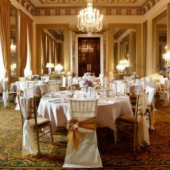 Vintage Lace, Hessian Chair Covers And Sashes @ Wynyard Hall: Hessian sashes have been a bit of  a slow burner but the the vintage lace has been a