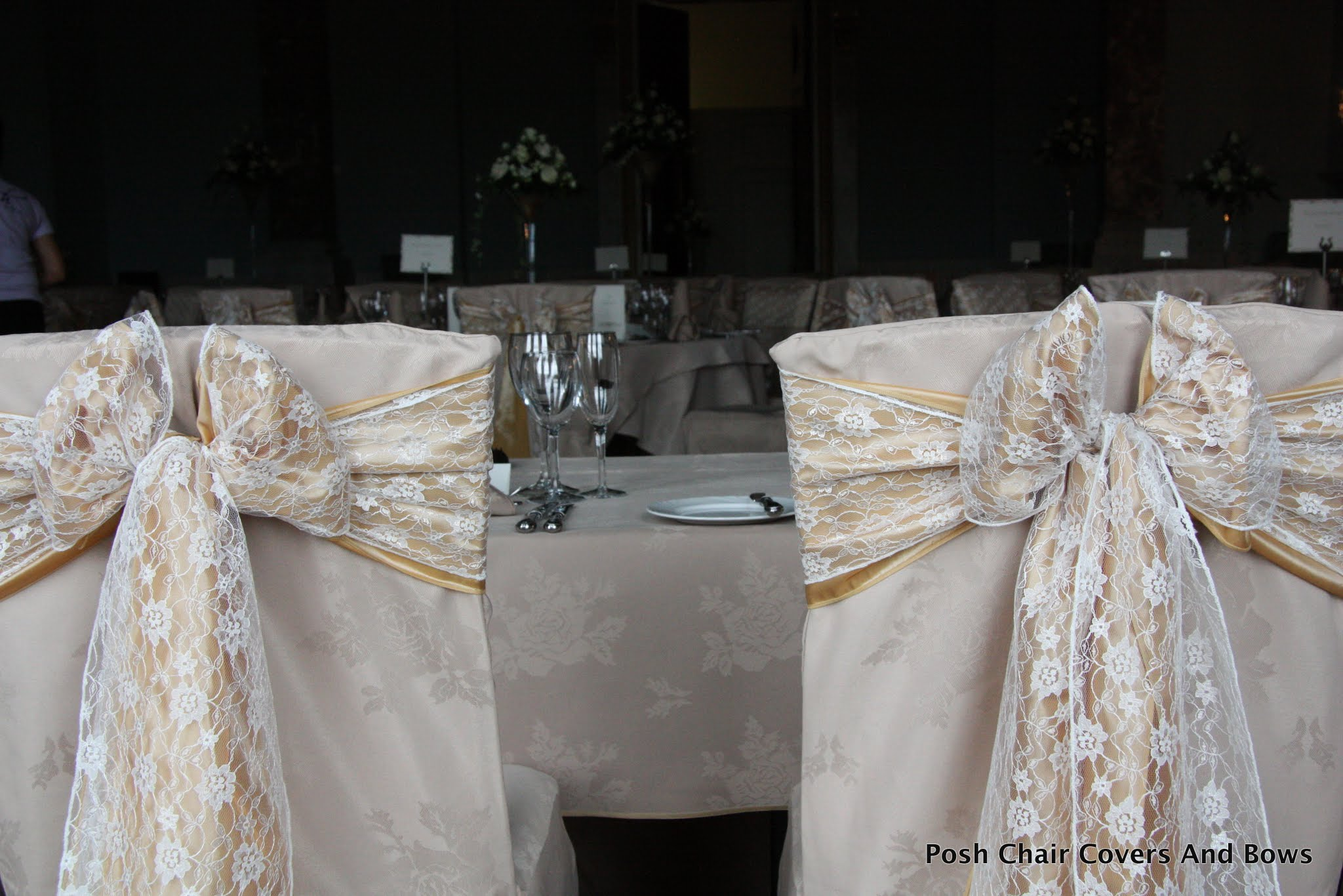 Posh Chair Covers & Bows Chiavari Chairs Flower Wall