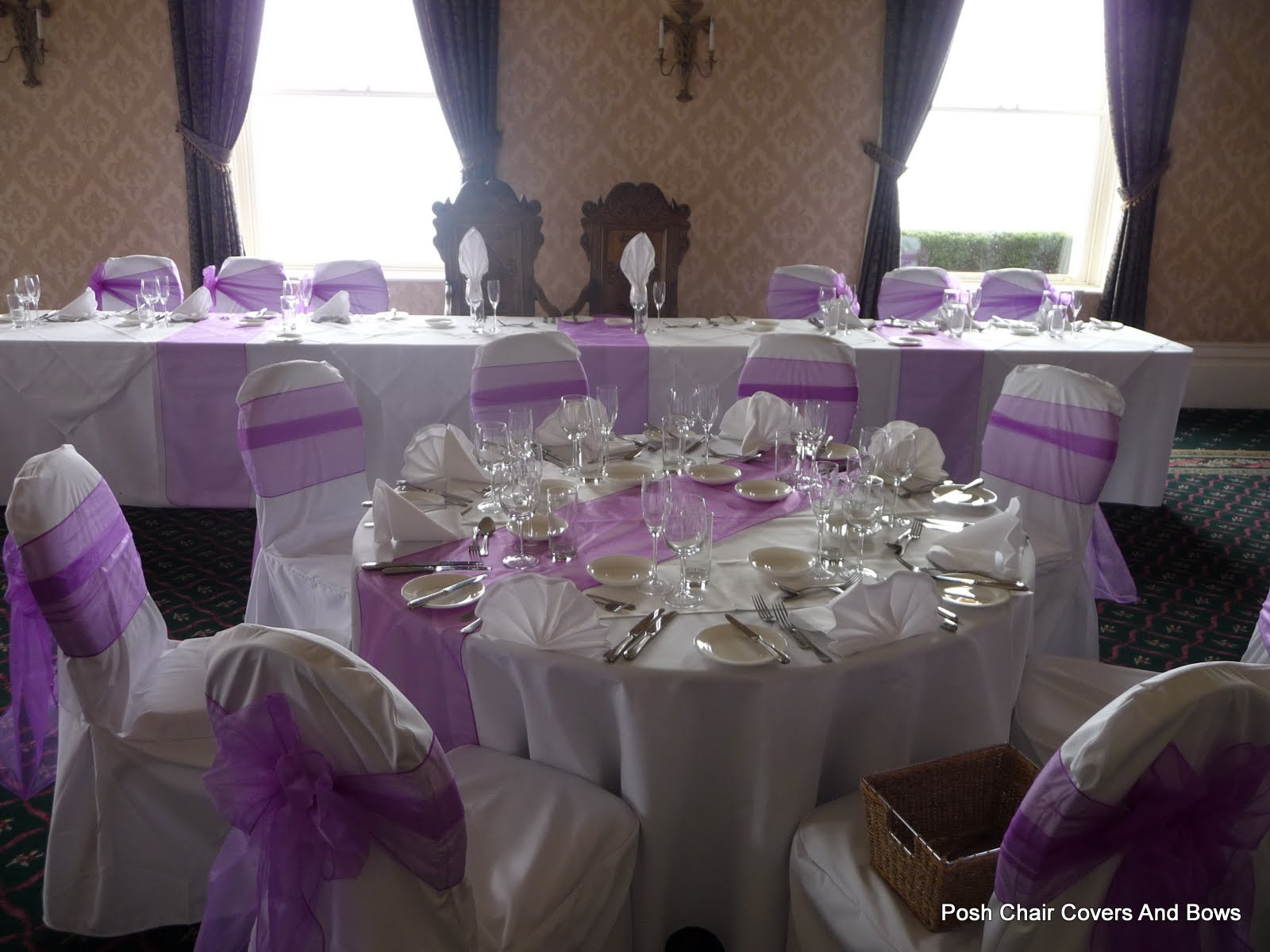 Posh Chair Covers & Bows Chiavari Chairs Flower Wall